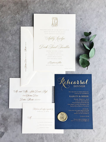 Karlyn Wedding Invitation - Deposit Listing