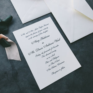 Hammet Value Invitation (set of 10)
