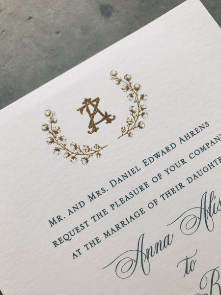 Luneau Wedding Invitation - Deposit Listing