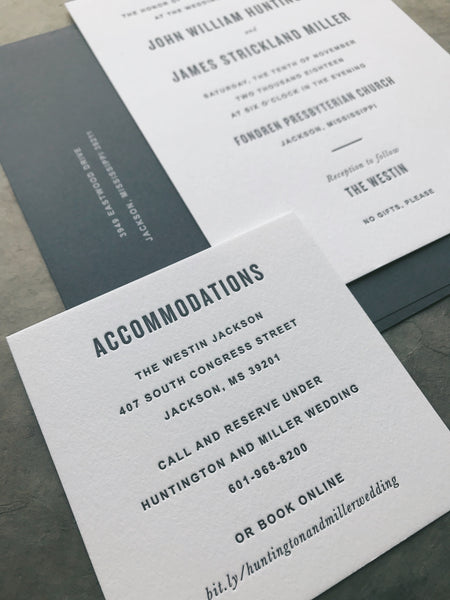 James Wedding Invitation - Deposit Listing