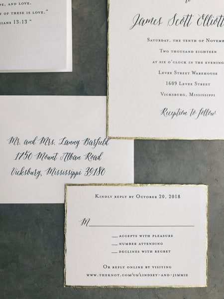 Barfield Wedding Invitation - Deposit Listing