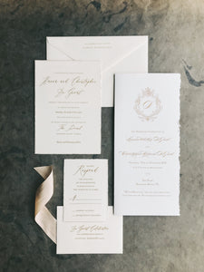 Hanna Wedding Invitation - Deposit Listing