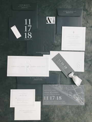 Oates Wedding Invitation - Deposit Listing