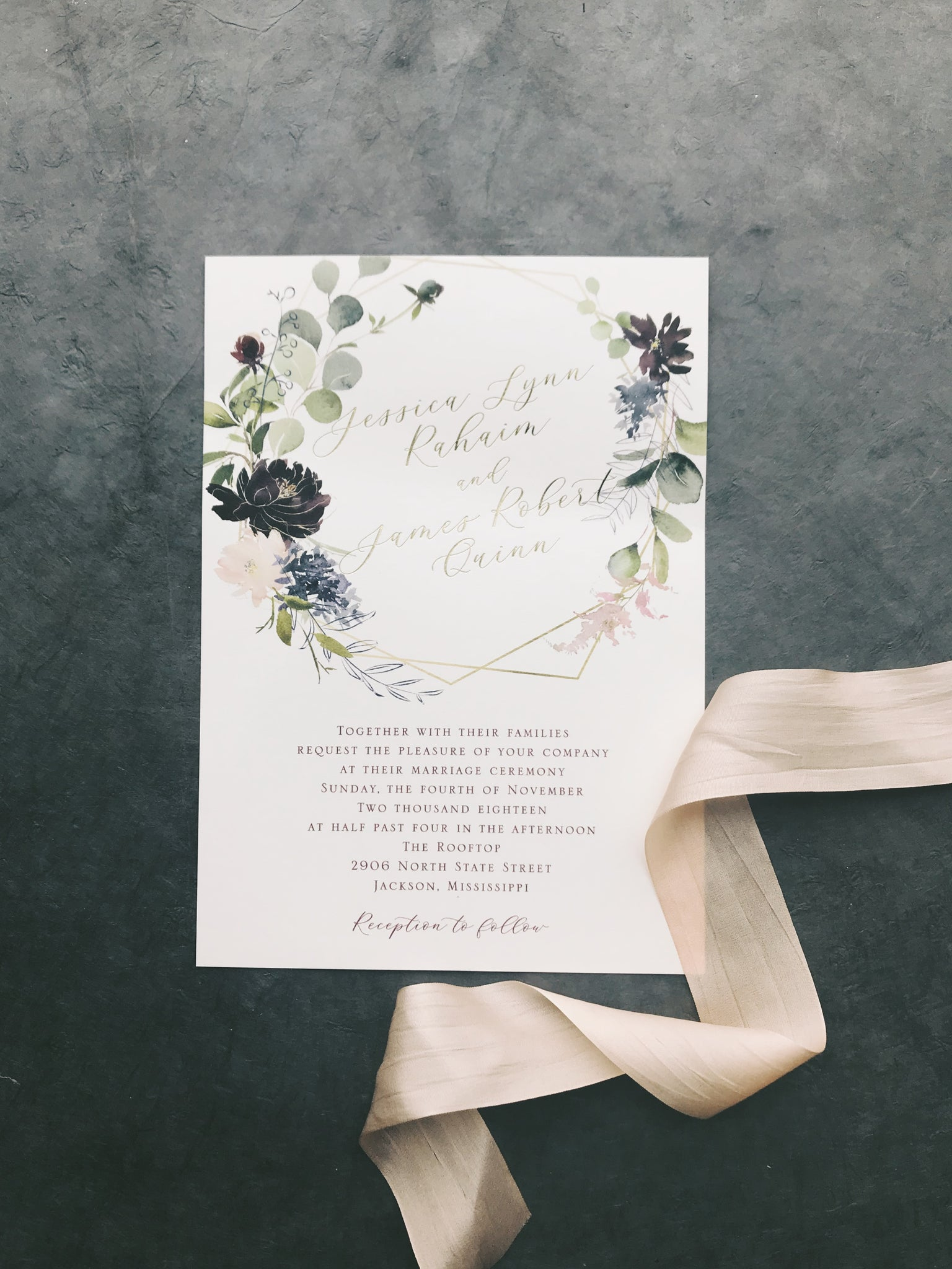 Quinn Wedding Invitation - Deposit Listing