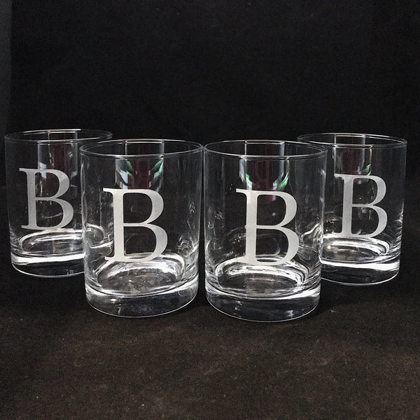Monogrammed Double Old Fashioned Glasses or Ice Bucket