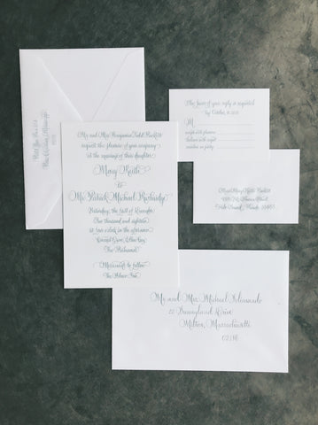Rushridge Wedding Invitation - Deposit Listing
