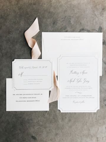 Gray Wedding Invitation - Deposit Listing
