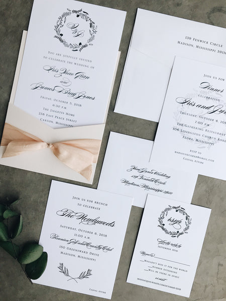 Iris Wedding Invitation - Deposit Listing