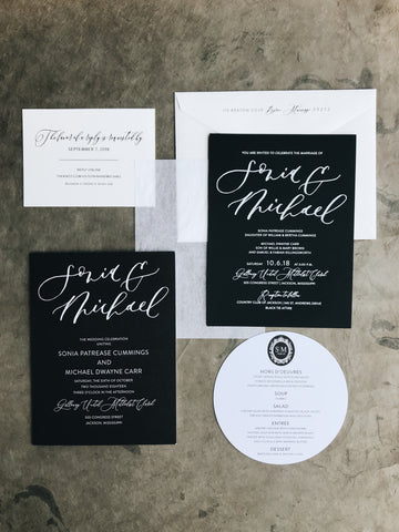 Sonia Wedding Invitation - Deposit Listing