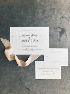 Meredith Wedding Invitation - Deposit Listing
