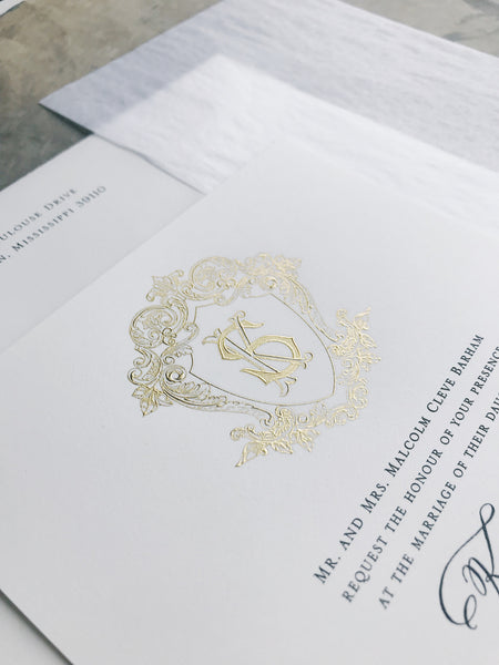 Barham Wedding Invitation - Deposit Listing