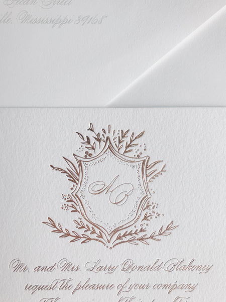 Blakeney Wedding Invitation - Deposit Listing