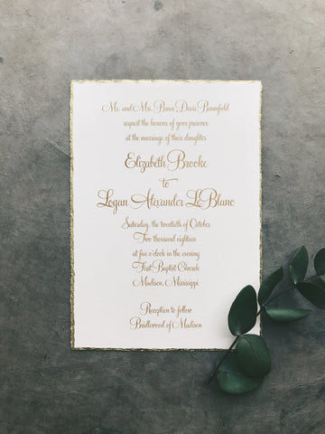 Brooke Wedding Invitation - Deposit Listing