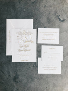Linda Wedding Invitation - Deposit Listing