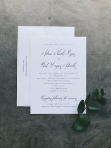 Ryan Wedding Invitation - Deposit Listing