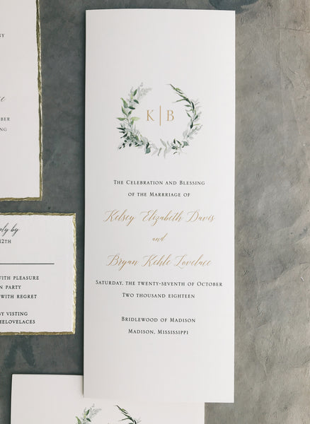 Kelsey Wedding Invitation - Deposit Listing