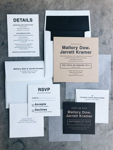 Kramer Wedding Invitation - Deposit Listing