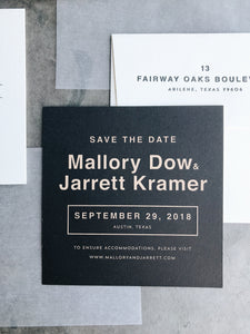 Mallory Save the Date - Deposit Listing