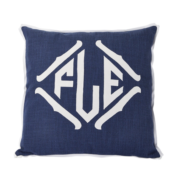 Applique Monogrammed Decorative Pillow