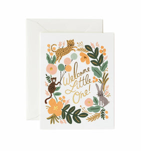 Menagerie Baby Greeting Card