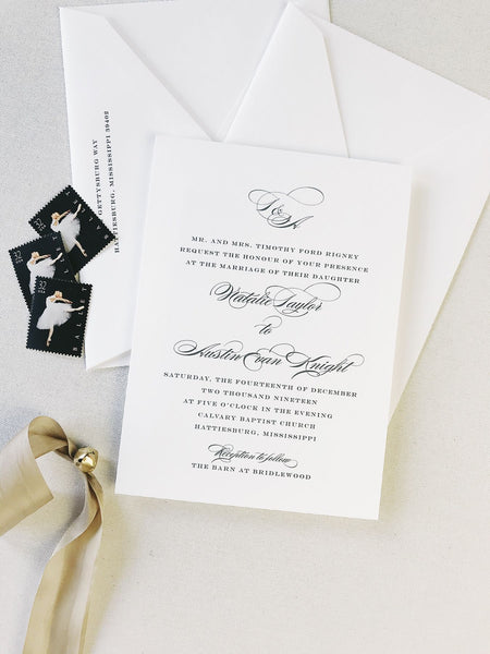Rigney Wedding Invitation - Deposit Listing