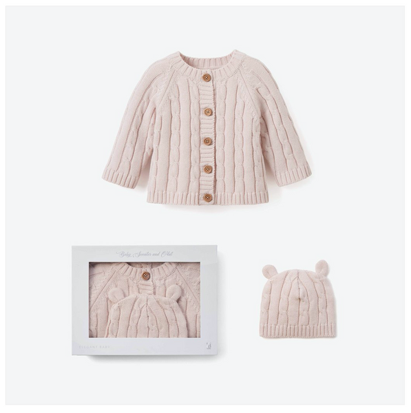 Cable Sweater & Hat Set