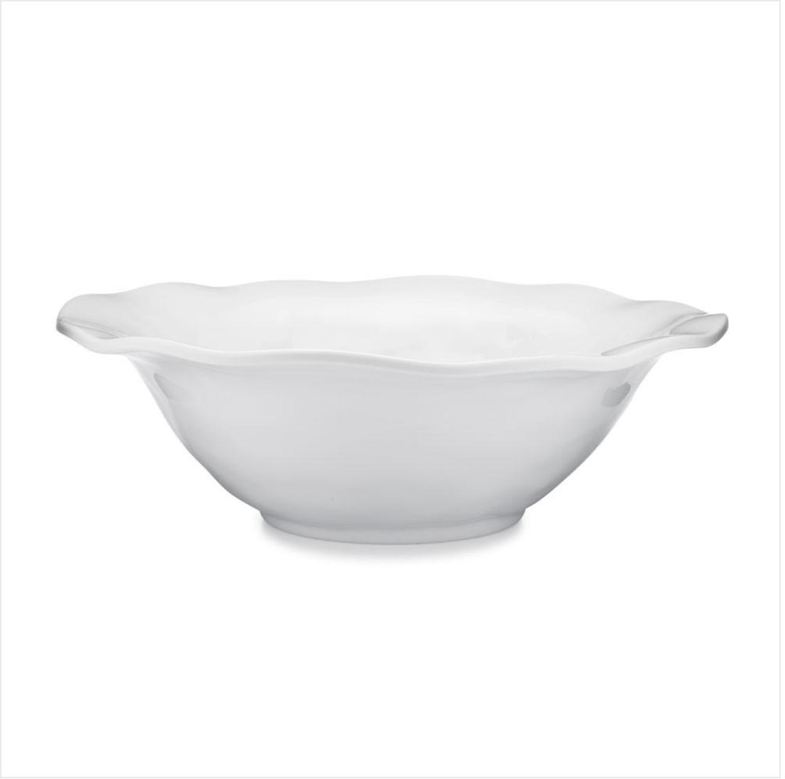 "Ruffle 12"" Round Melamine Serving Bowl"
