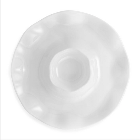 Ruffle Melamine Chip and Dip Platter