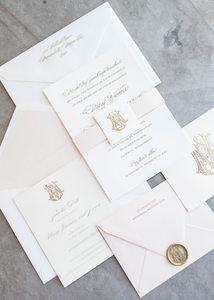 Mary Frances Wedding Invitation - Deposit Listing