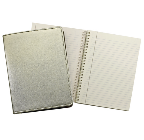 Metallic Gold Leather Notebook