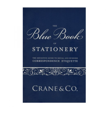 Crane & Co. Stationery Blue Book