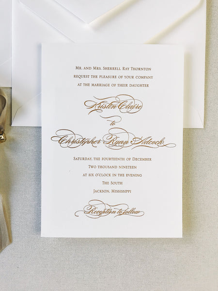 Thornton Wedding Invitation - Deposit Listing