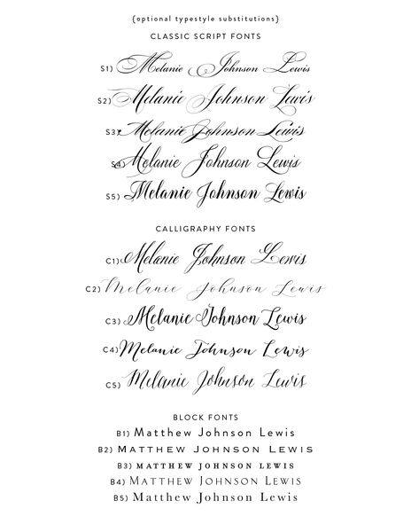 Lewis Value Invitation (set of 10)