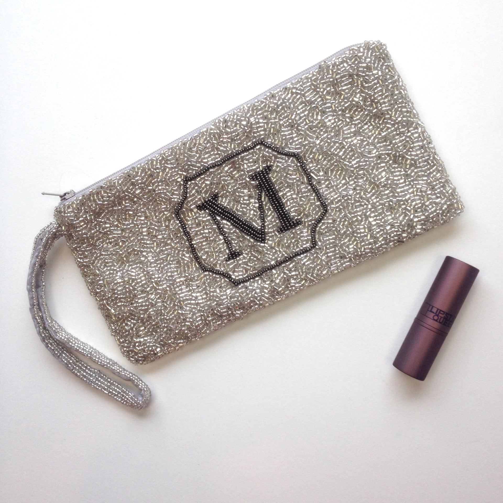 Monogram  Beaded  Purse - Macy Style