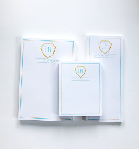 Custom Monogram Notepad