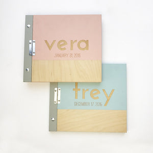 Wooden Baby Albums