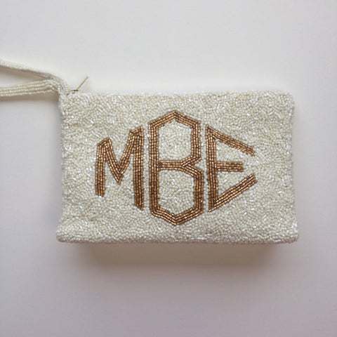 Monogram  Beaded  Purse - Reynaud Style