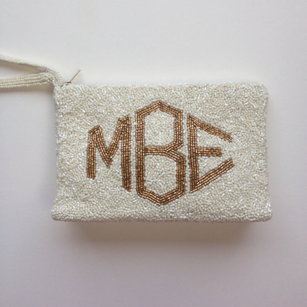 Monogram  Beaded  Purse - Molly Style