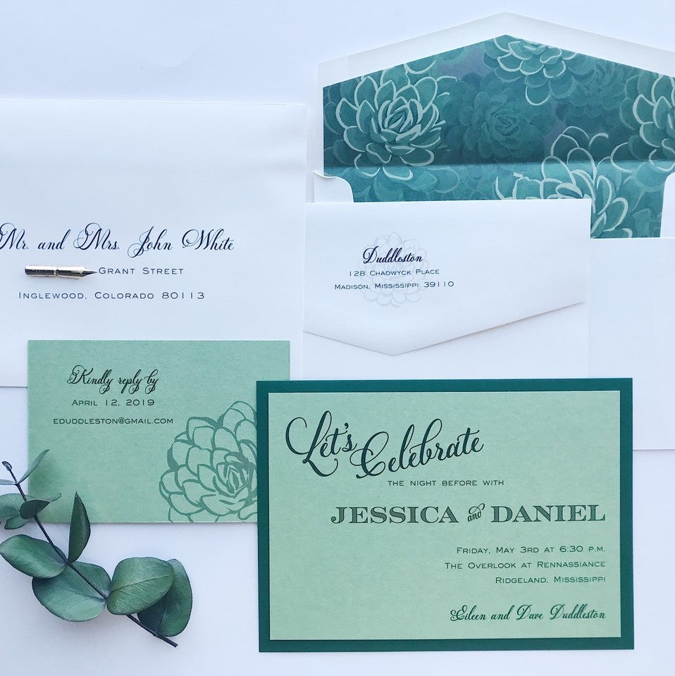 Duddleston Rehearsal Dinner - Deposit Listing