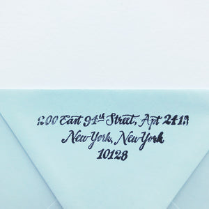 Designer Calligraphy Return Address Stamps