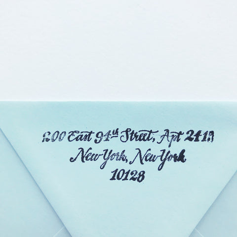 Calligraphy Return Address Stamps