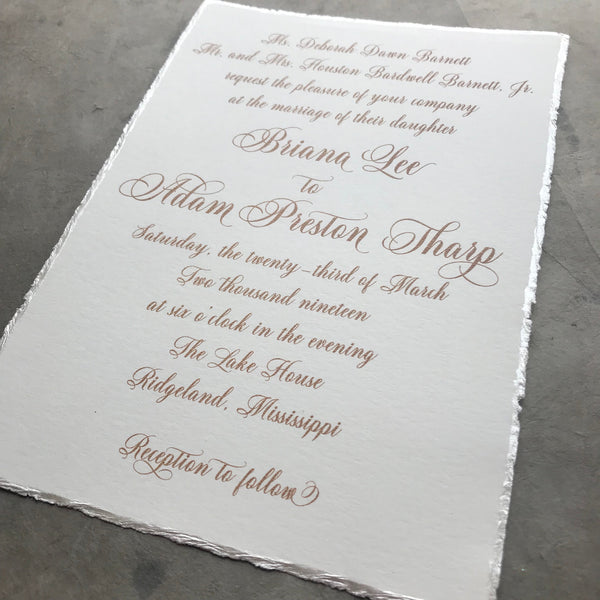 Briana Wedding Invitation - Deposit Listing