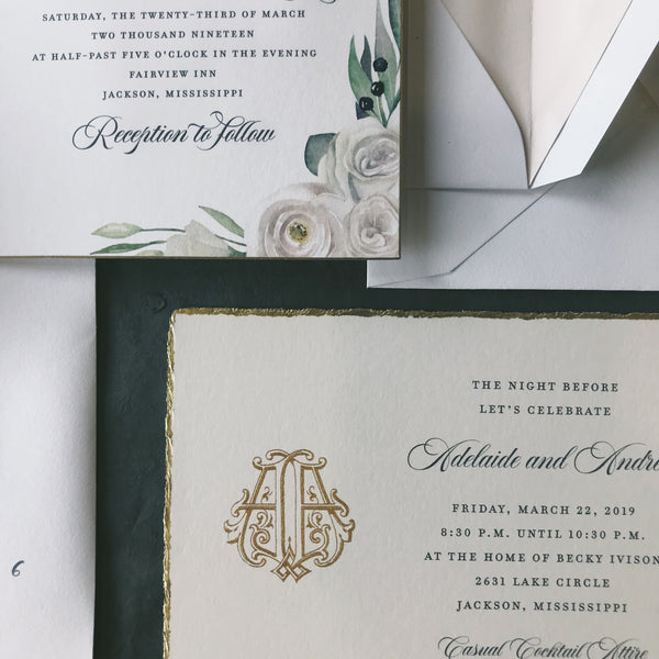 Strange Wedding Invitation - Deposit Listing