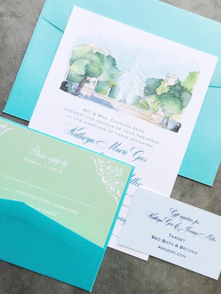 Geer Wedding Invitation - Deposit Listing