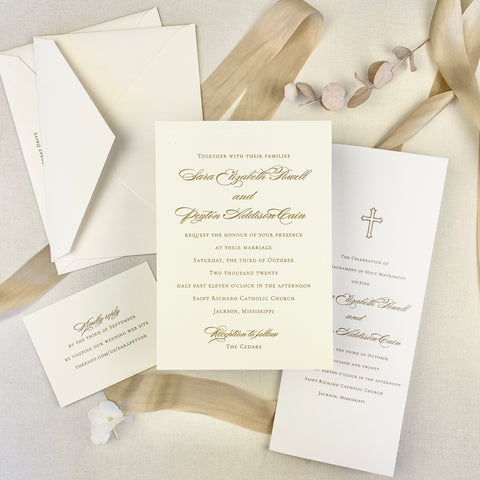 Sara Powell Wedding Invitation - Deposit Listing