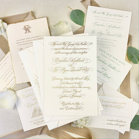 Caroline Walker Wedding Invitation - Deposit Listing