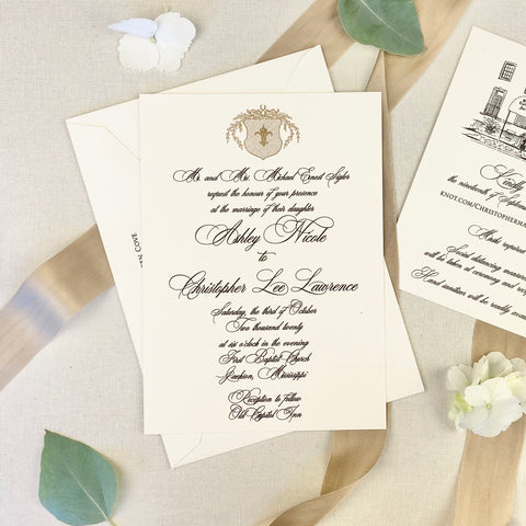 Ashley Sigler Wedding Invitation - Deposit Listing