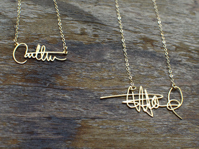 Signature Name Necklace