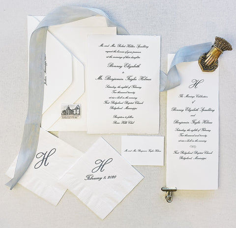 Spaulding Wedding Invitation - Deposit Listing
