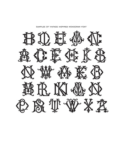 Monogram Rubber Stamp